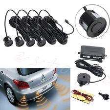 4 Sensors Car Reverse Backup Rear Buzzer Radar System Kit Sound Alarm New Black