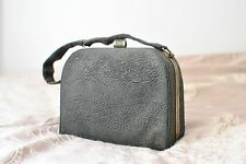 Genuine 1930s 1940s 40s black box bag silver small