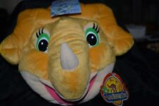 Dinosaur Plush 24 CD/DVD Holder Wallet THE LAND BEFORE TIME Triceratops NWT
