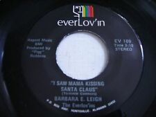 Barbara E. Leigh I Saw Mama Kissing Santa Claus 45rpm VG+