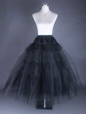 New Black No-Hoop 3-Layer Petticoat / Crinoline / Skirt Slip