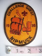 BSA Boy Scout Patch 1998 Challenge Quest Nipmuck Hiking Backpack Taiwan Unused