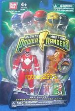 "Mighty Morphin Power Rangers Red Ranger New 4"" w Light up Dino Flyer 2010"