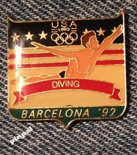 Diving Olympic Pin ~ 1992 Barcelona Summer Games ~ USA Team~Fundraising
