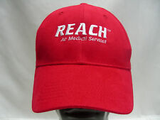 REACH - ALI MEDICAL SERVICES - RED - ADJUSTABLE STRAPBACK BALL CAP HAT!