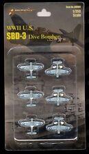 WWII SBD-3 Dive Bomber 1/350 Mini Models (Set of 6) *US Seller*