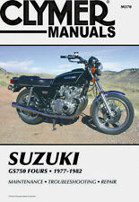 Clymer Repair Service Shop Manual Vintage Suzuki GS750 GS750 L/E/T Fours