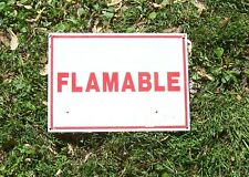 "FLAMMABLE WARNING  SIGN 14"" X 10"""