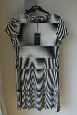 NEW MARKS AND SPENCER FINE KNIT STRIPE T SHIRT DRESS  SIZE 18