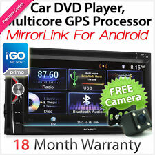 MirrorLink Double 2 DIN In Dash Car DVD GPS Player Stereo Head Unit USB MP3 CD