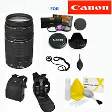 Canon EF 75-300mm III LENS + BACKPACK + FILTER KIT FOR CANON EOS REBEL T5 T3 T3I