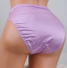 VTG HIGH LEG CUT Lilac SHINY second skin Satin GELMART sissy panties sz S