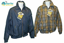 BARBOUR Mens Ayr Reversible GOLF JACKET Reversible Navy Blue/Tartan S AUTHENTIC