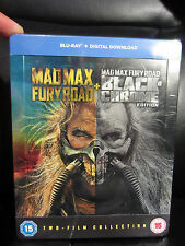 Mad Max Fury Road Black & Chrome Blu-Ray Steelbook New Sealed Region Free