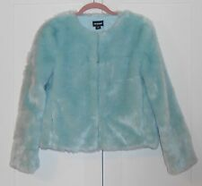 WOMEN'S JOX BOXER MINT GREEN FAUX FUR JACKET - SIZE SMALL