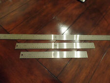 "24"" 15"" & 12"" Flexible Stain Steel Metal Ruler Non Slip Cork Back Inches Metric"