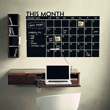 Removable Calendar Chalkboard Blackboard Vinyl Schedule Home Decor Wall Sticker