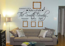 Personalised Family Name Wall Art Quote Phrase Sticker Mural Decal
