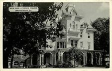 c1940 Postcard; Main Hall, Wilson College, Chambersburg PA Franklin Co Unposted