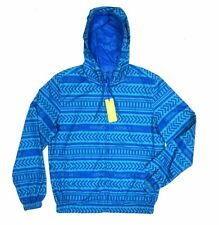 NEW VERSACE JEANS BLUE REVERSIBLE NYLON HOODED RAIN WIND JACKET SZ EU:52/US:L