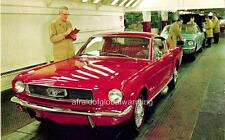 Photo. 1965-6. Dearborn, MI. Ford Mustang Assembly Line - Cars, Workers
