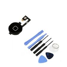 New Black Home Button Key + Home Menu Flex Cable + 8 in 1 Tool Kit for iPhone 4