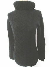 House - Black Long Sleeved Polo Neck Acrylic Jumper size small