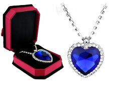 Necklace Titanic Heart of the Ocean whit Austria Crystal  White Gold N7