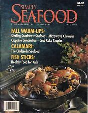 SIMPLY SEAFOOD VINTAGE COOKBOOK MAGAZINE FALL 1992 VOL. 2, NO. 4 CRABCAKES MORE