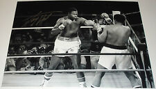 LARRY HOLMES V MUHAMMAD ALI BOXING MONTAGE HAND SIGNED 16X12 PHOTO