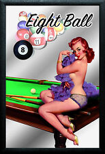 Las Vegas Pin Up Motiv 3 Nostalgie Barspiegel Spiegel Bar Mirror 22 x 32 cm