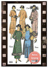 1920's Dress and Coat Vintage Sewing Pattern - Downton Era