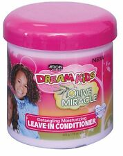 African Pride Dream Kids Olive Miracle Leave-In Conditioner, 15 oz (Pack of 4)