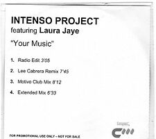 INTENSO PROJECT FEAT LAURA JAYE YOUR MUSIC UNIQUE PROMOTIONAL CD Clearance Price