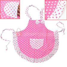 Double layer Cloth Frills Bowknot Polka Dots Child's Princess Apron For Baking