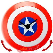 Marvel Captain America Shield Wobble Clock Wall Clock Moving Watch