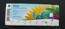 Eintrittskarte/ Ticket WM 2014 #58 Frankreich/ france vs Deutschland/ germany
