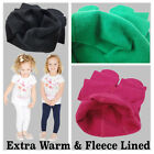 NEW CHILDRENS KIDS GIRLS WINTER FLEECE THERMAL COTTON LEGGINGS ALL AGES