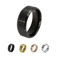 Hot Sale Stainless Steel Ring Band Titanium Silver Black Gold Men 7 -15 size