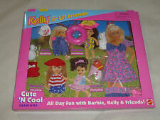 NEW KELLY & LIL FRIENDS CUTE N COOL FASHIONS MATTEL 1996 SWIMTIME PARTYTIME NIB