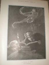 Un sueño de la Fama por Dudley Hardy antigua de impresión de 1902 ref Z