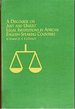 Discourse on Just and Unjust Legal Institutions in African English Speaking Co..