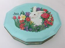 SEE'S CANDIES Candy TIN Container 1 lb. Easter Bunny