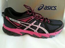 Asics Gel Sonoma Women's Trail Running Shoes Wide D Sizes Black Pink T4F8N.7893