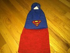 DC COMICS SUPERMAN WITH EXTRA LONG FLAP IN THE BACK ONE SIZE BEANIE