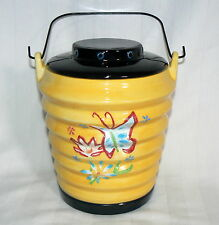 THE CELLAR CERAMIC CANISTER YELLOW  CHINESE LANTERN