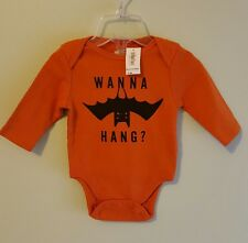 Old Navy Infant Boys 0-3 MONTHS Long Sleeve Bodysuit HALLOWEEN Wanna Hang #11417
