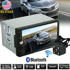 Double 2 Din Car Stereo MP5 MP3 Player Radio Bluetooth USB AUX + Parking Camera