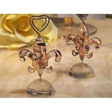 Murano wedding Fleur De Lis Place Card holder favor