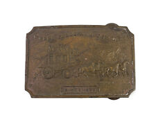 Tiffany New York Bronze Belt Buckle Wells Fargo and Company Stage Coach